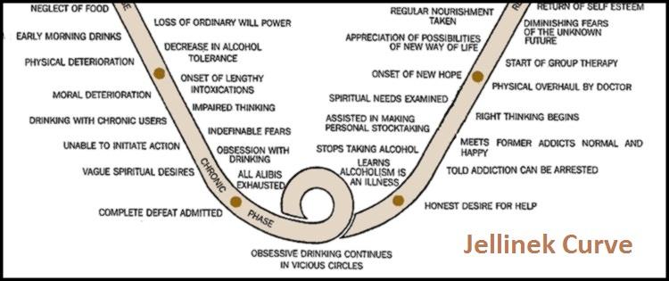 The Jellinek Curve : AA Agnostica